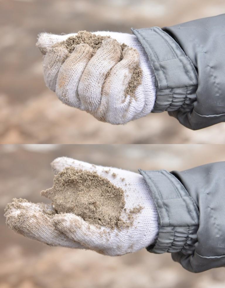 ④混合撹拌土